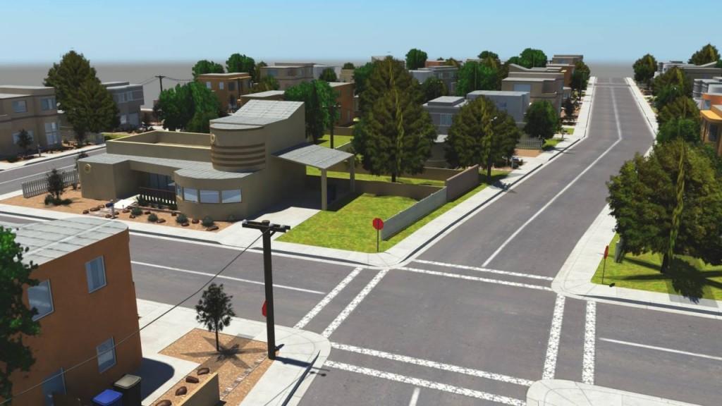 In game screen capture of virtual world neighborhood